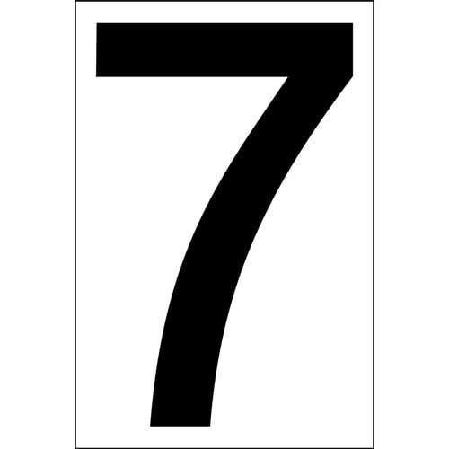 """# 7 BLACK DECAL 4"""" HI WHITE BACK"""