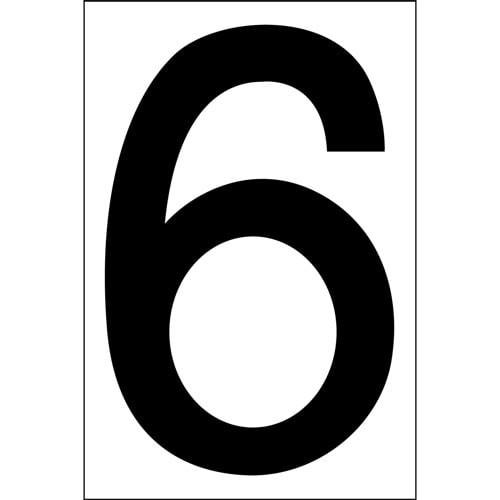 """# 6 BLACK DECAL 4"""" HI WHITE BACK"""