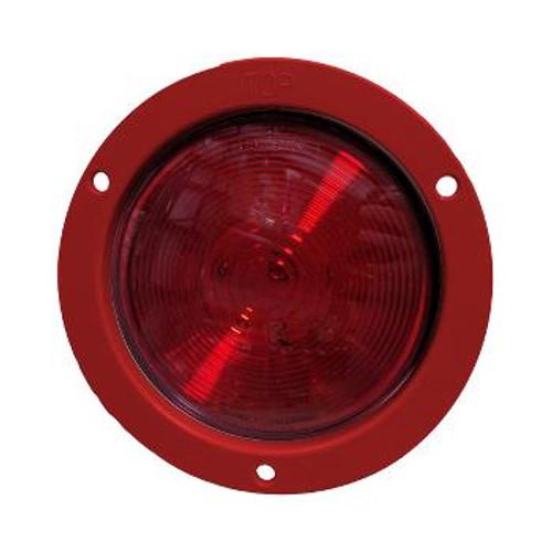 "LAMP, RED, S/T/T -SEALED 4"" w/ORANGE FLG"