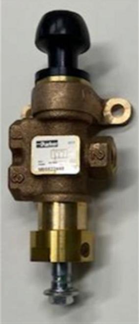 Dump valve, manual.