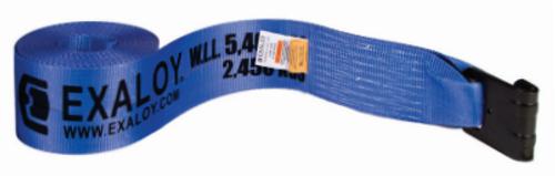 """STRAP, 4"""" x 30' WINCH w/FLAT HOOK (BLUE)"""