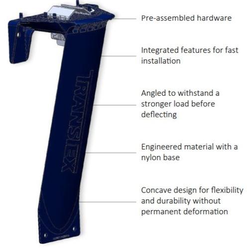 T-Flex skirt bracket. (single bracket). Also available in complete kit containing 16 brackets (TSX-T-FLEX-16)