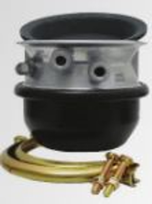 "30/30 air brake chamber, piggyback (emergency portion of a complete spring brake) sealed, comes with rubber diaphragm and clamp to attach to service side of 30/30, 2.5"" stroke length"