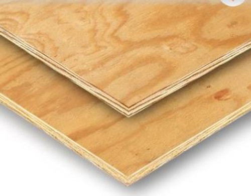 "Plywood sheeting, 1/2"" (15/32"") x 48"" x 96"""