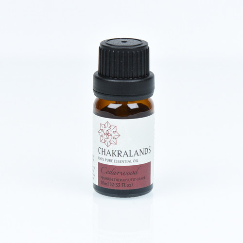 ChakraLands 100% Pure Cedarwood Essential Oil All Natural Therapeutic Grade for Aromatherapy Meditation Yoga and More