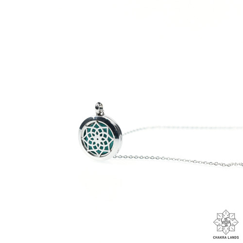 Flower Mandala Diffuser Necklace For Personal Development
