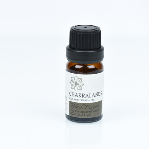 ChakraLands Black Pepper Essential Oil 100% Pure Therapeutic Grade for Aromatherapy Meditation Yoga and More