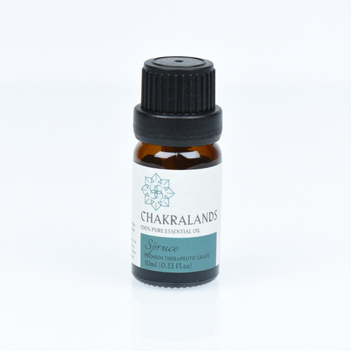 ChakraLands Spruce Essential Oil 100% Pure Therapeutic Grade for Aromatherapy Meditation Yoga and More