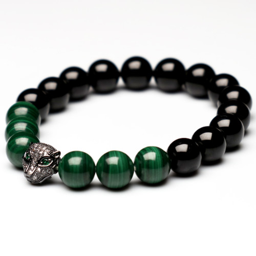 "ChakraLands ""Open to Love"" Bracelet - For Love Attration - malachite - tourmaline - Heart Chakra Bracet -Healing Crystal Bracelet"