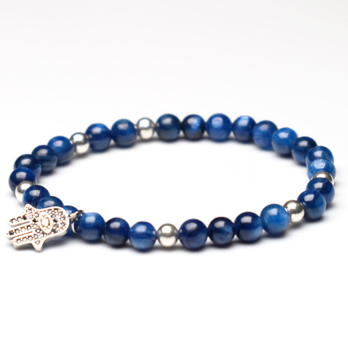 "ChakraLands ""Authentic Self"" Bracelet For Self-Expression - kyanite - Throat Chakra Bracelet Healing Crystal Bracelet"