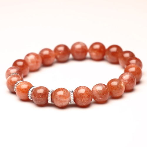"ChakraLands ""I Am a Radiant Soul"" Bracelet For Creativity - Sunstone - Sacral Chakra Bracelet Healing Crystal Bracelet"