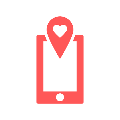 mobile heart icon happiness guarantee