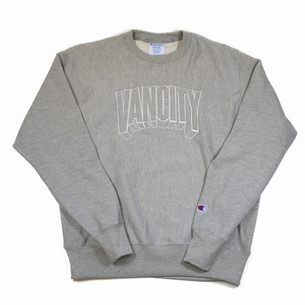 Dimensions Premium Reverse Weave Crew - Athletic Grey