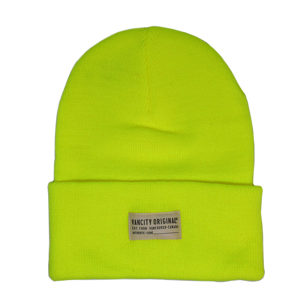 Authentic Issue Beanie - Highlighter Green