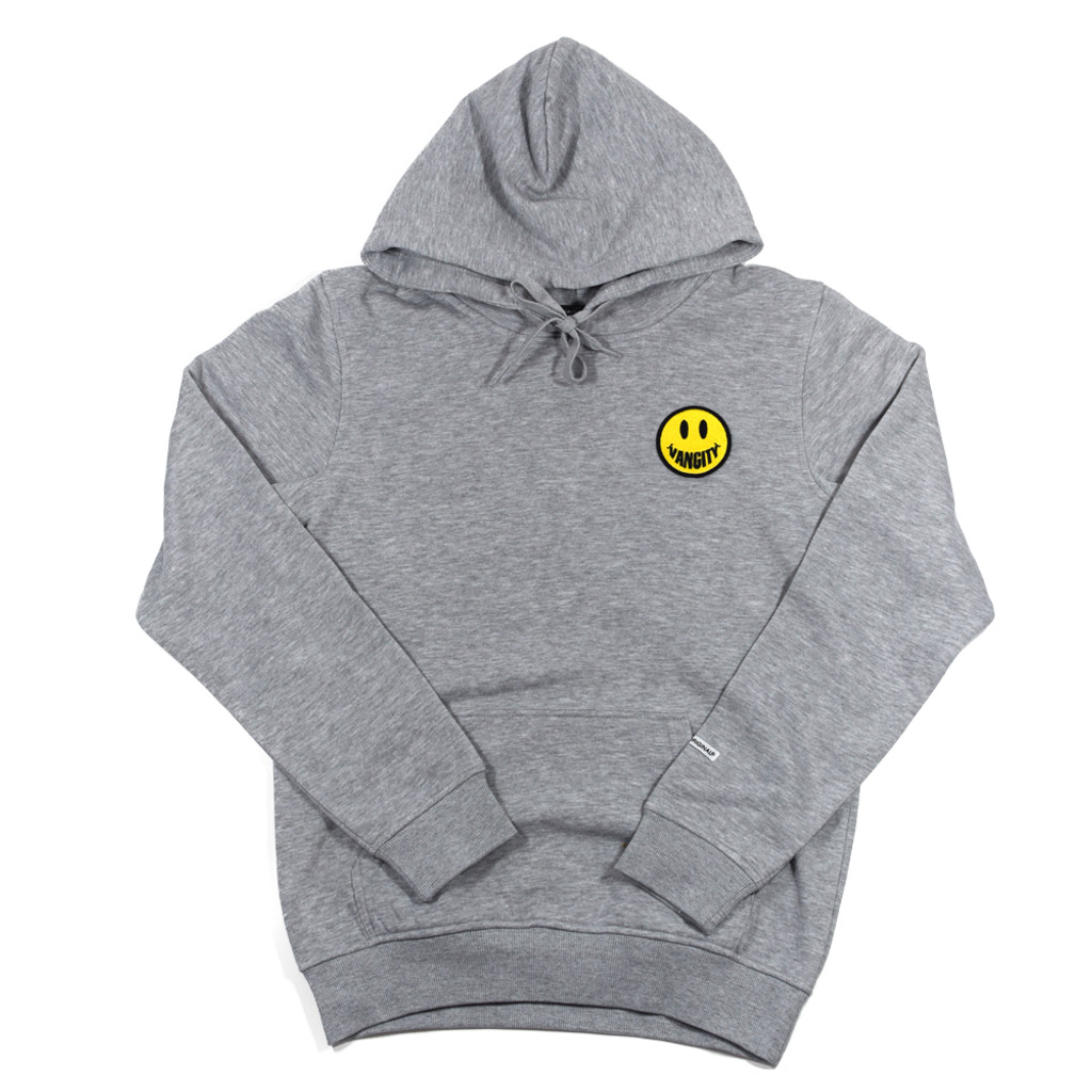 Vancity Smile Patch Hoodie - Athletic Grey