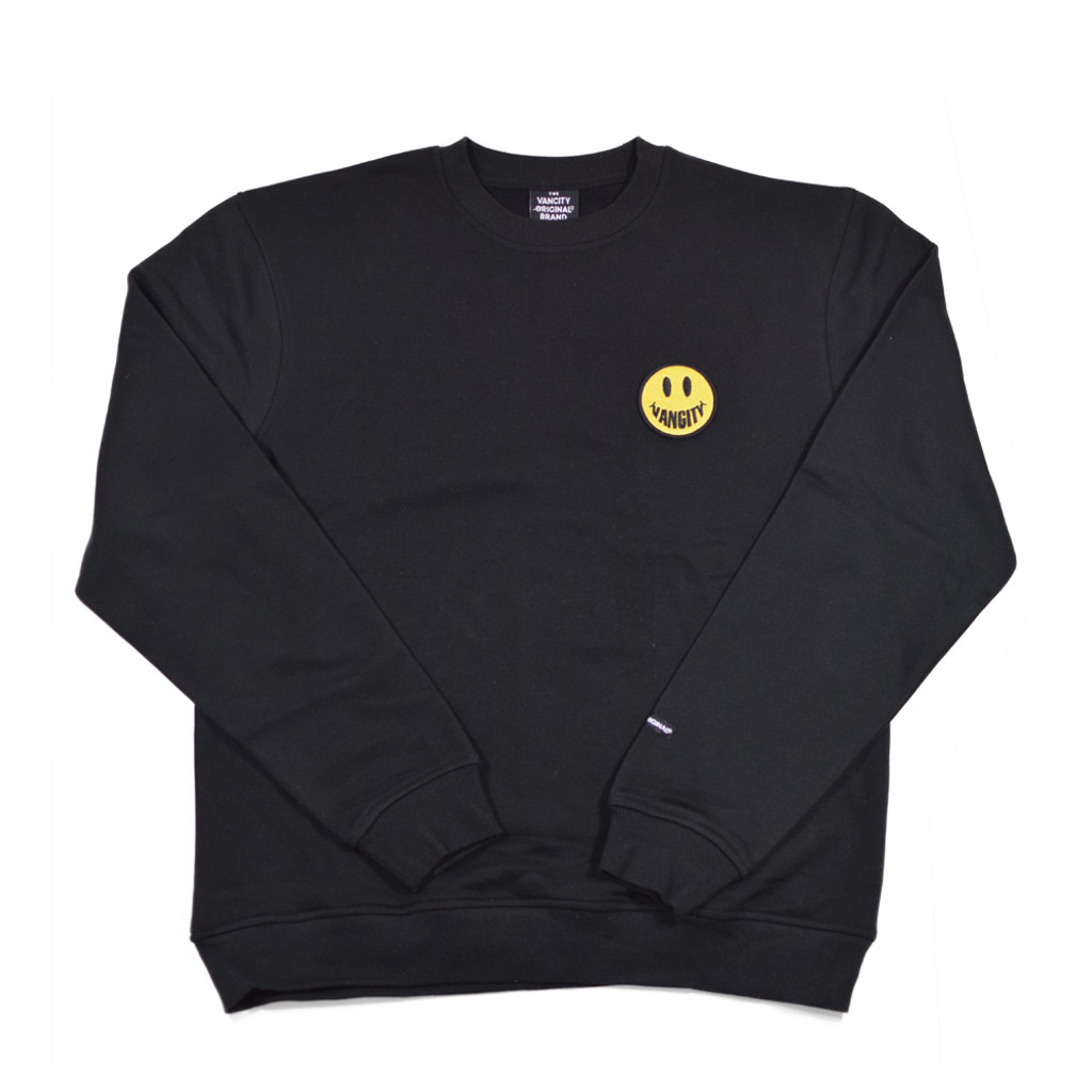 Vancity Smile Patch Crew Sweatshirt - Black