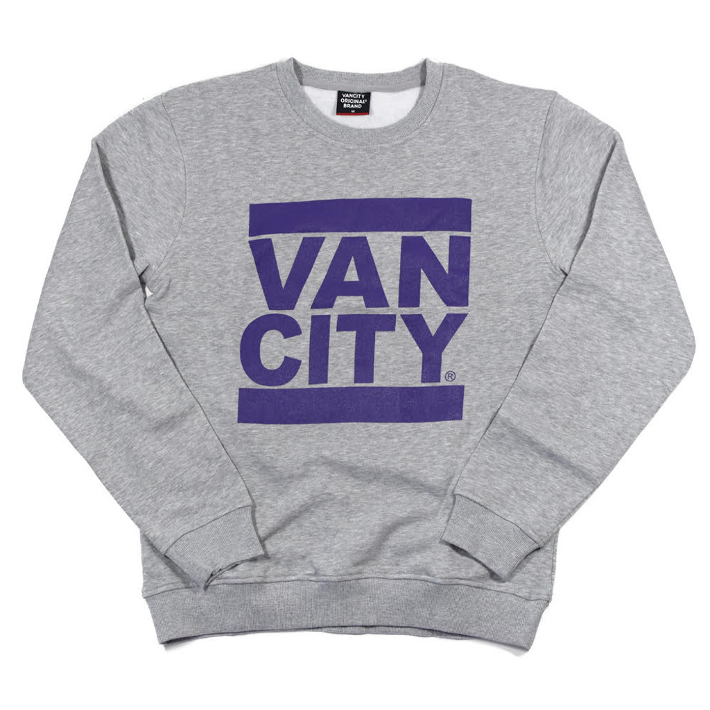Classic UnDMC Crew Sweatshirt - Heather Grey/Purple