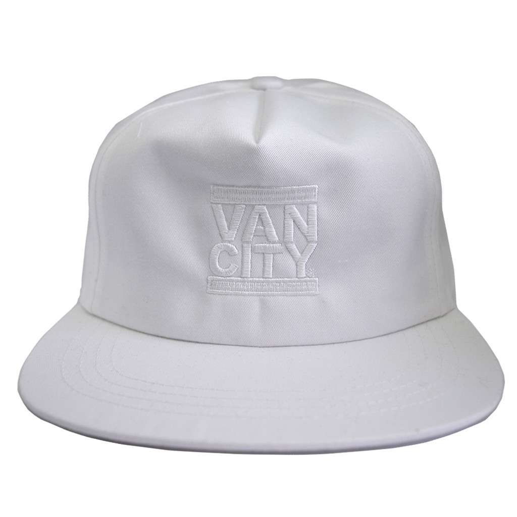 Monochrome Neutrale Unstructured 5-Panel Snapback - White