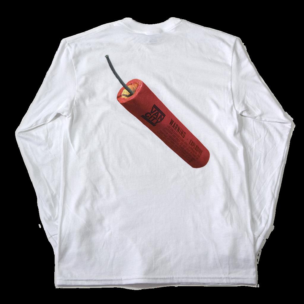 Firecracker L/S Tee - White