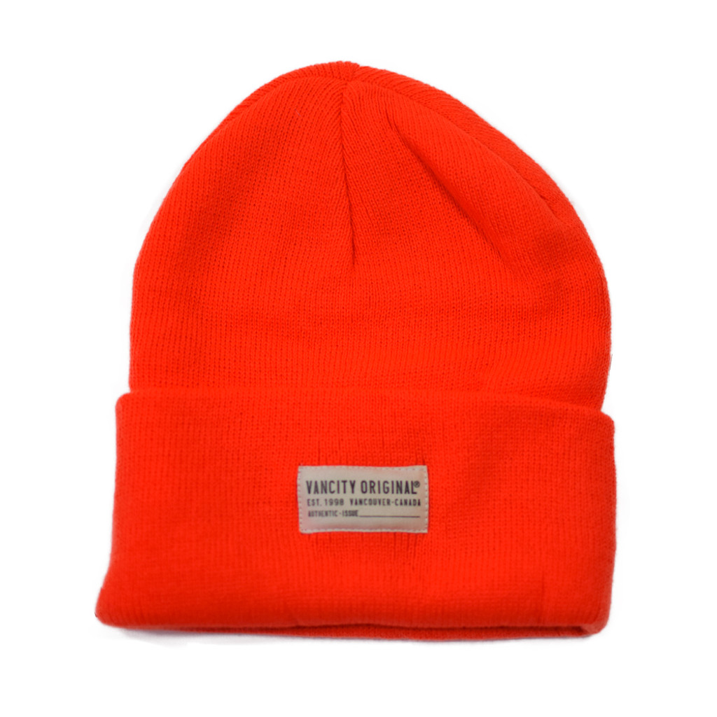 Authentic Issue Beanie - Highlighter Orange