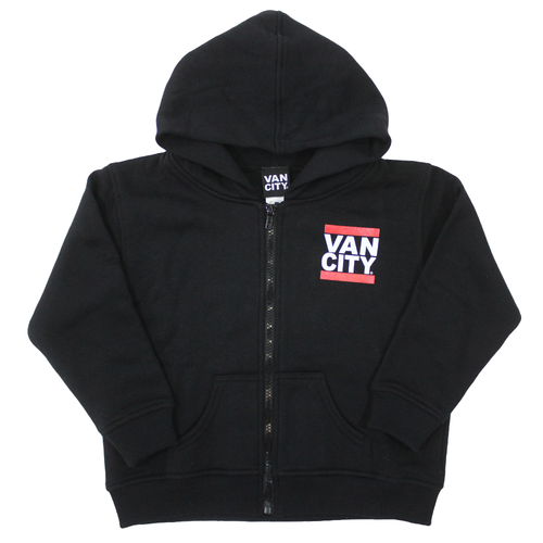 UnDMC Toddler Zip Up Hoodie - Black