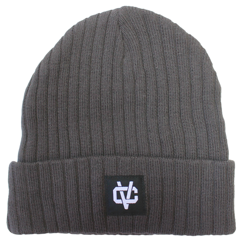 VC Link Ribbed Beanie - Grey