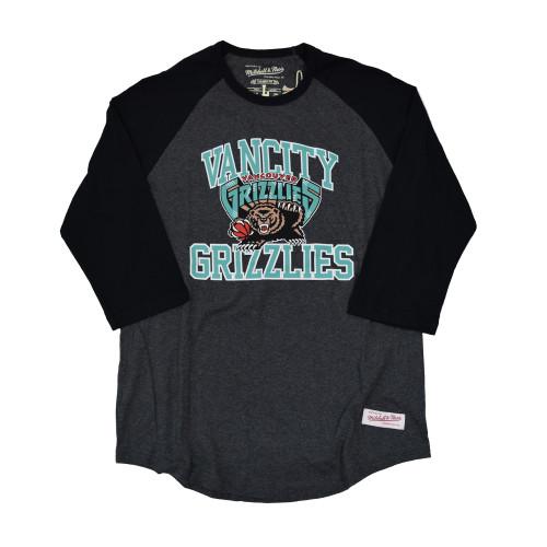 Vancity® Grizzlies Collegiate Raglan Tee - Charcoal/Black
