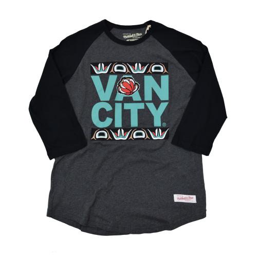 Vancity® Grizzlies UnDMC Raglan Tee - Charcoal/Black