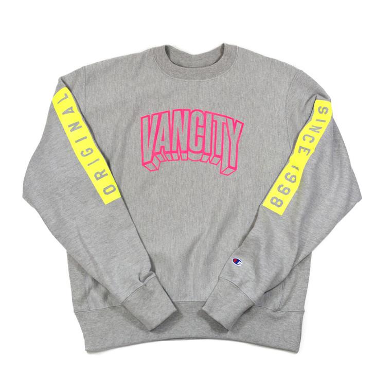 3D Premium Reverse Weave Crew Sweatshirt - Athletic Grey