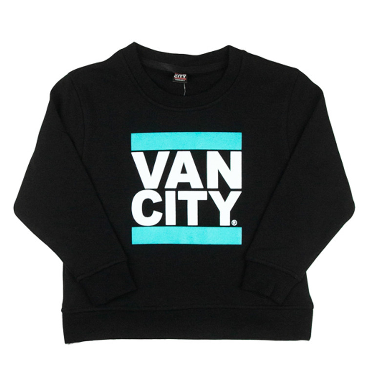 Classic UnDMC Toddler Crew Sweatshirt - Black/Teal
