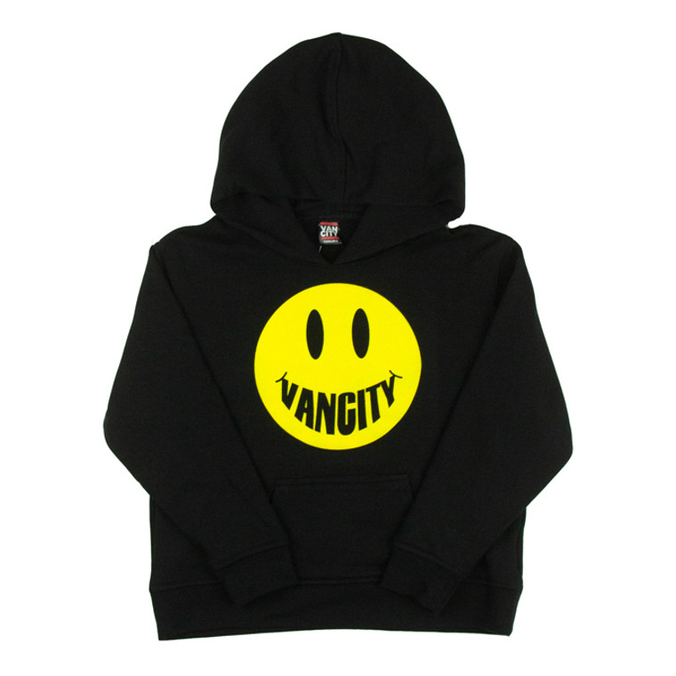 Vancity Smile Toddler Pullover Hoodie - Black