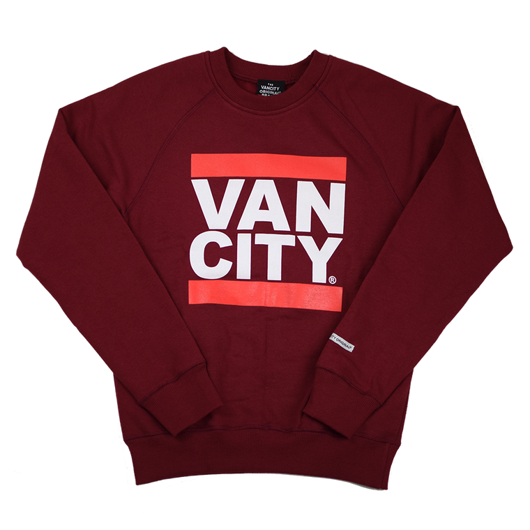 Youth UnDMC Crew - Burgundy