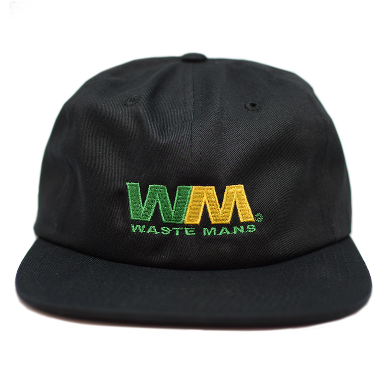 Wasteman 6 Panel Cap - Black