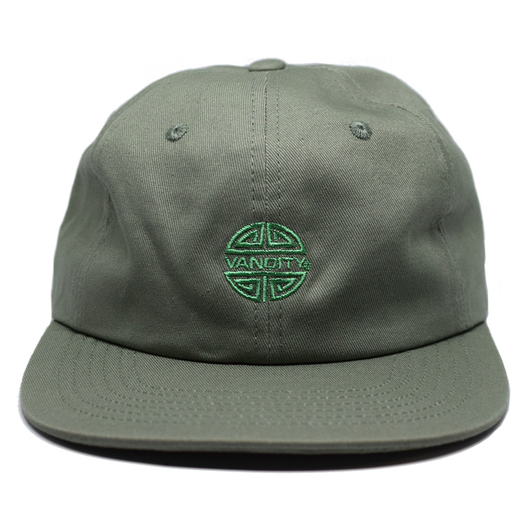 Crazy Rich 6 Panel Cap - Dusty Green