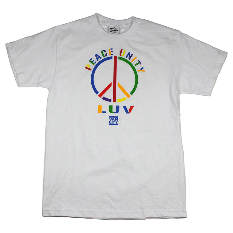 Peace Unity Luv Tee - White