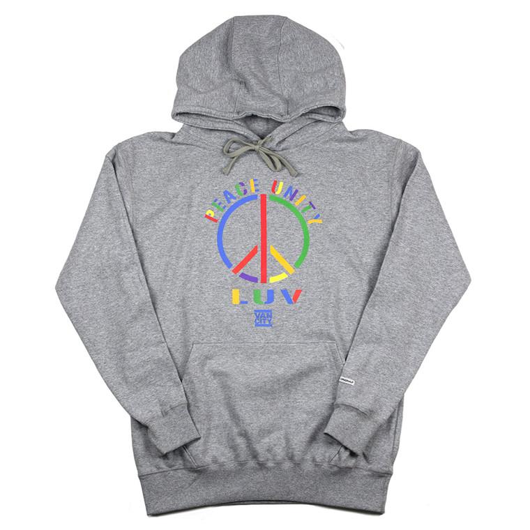 Peace Unity Luv Hoodie - Grey
