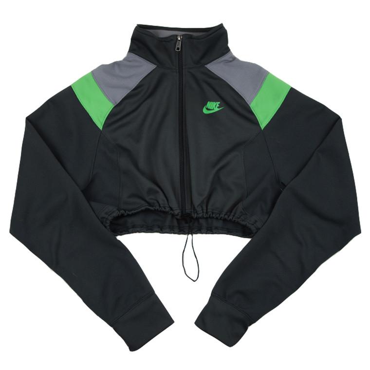 Queens Reworked Nike Crop Track jacket - Grey/Green