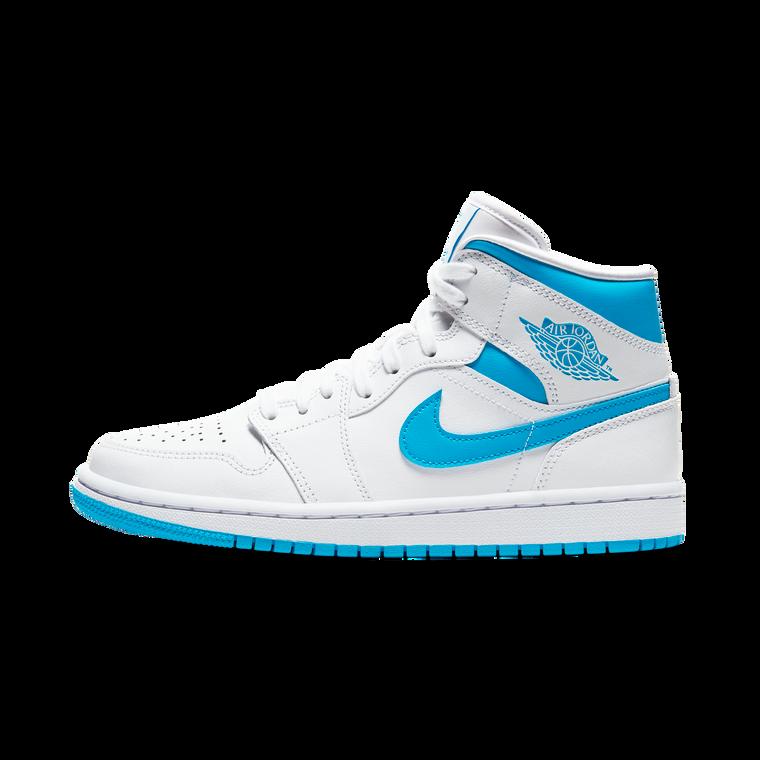 Jordan 1 mid wmns - White/Baby Blue