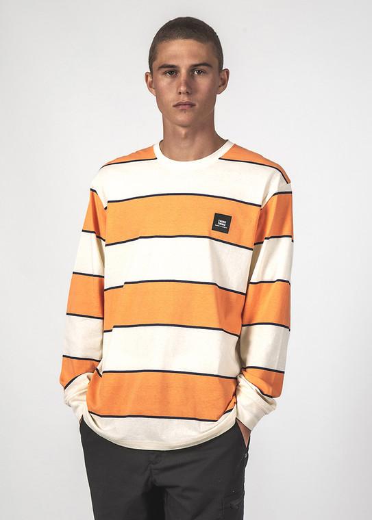 Striped Long Sleeve - Atom Orange