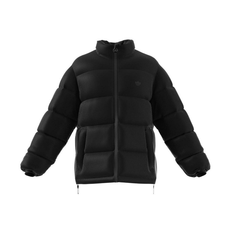 ADIDAS PADDED STAND COLLAR PUFFER JACKET - Black