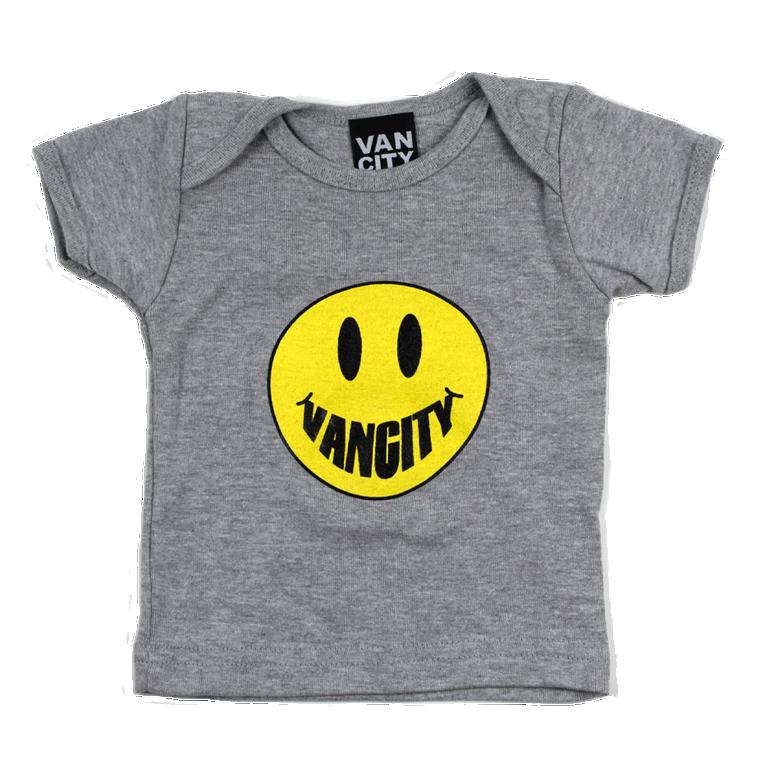 Vanciy Smile Lap Neck Tee - Heather Grey