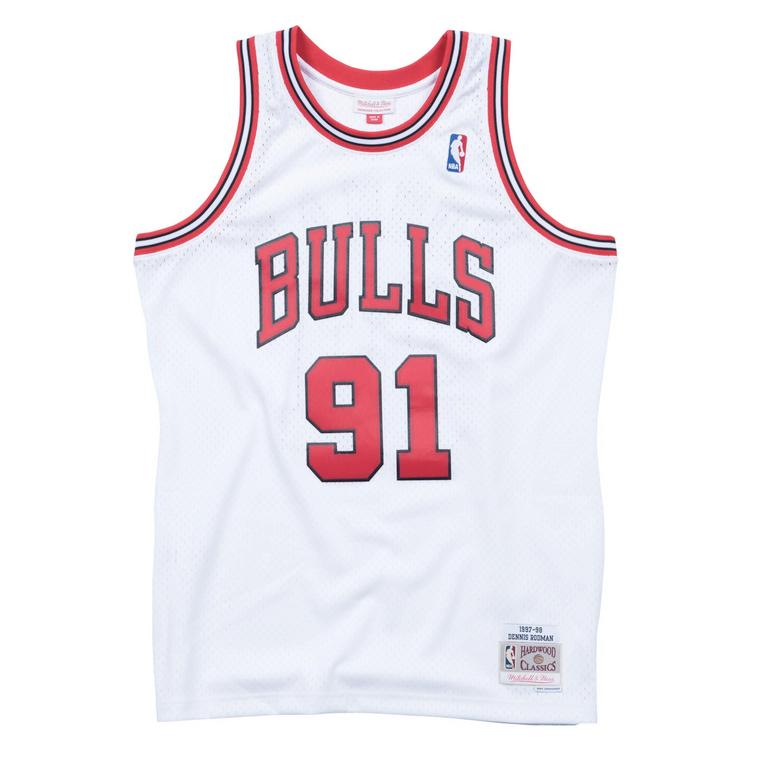 Mitchell & Ness Bulls 1997/98 Scottie Rodman Swingman Jersey - White