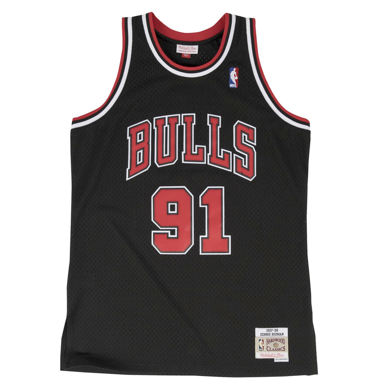 Bulls 1997/98 Rodman Swingman Jersey - Black