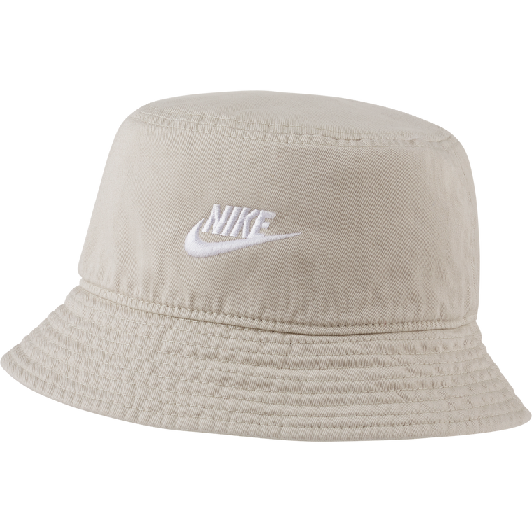 NIKE NSW WASHED BUCKET - LT/BONE WHITE