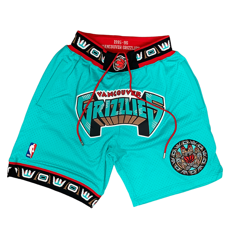 Mitchell & Ness NBA GRIZZLIES JUST DON SHORTS 95/96 - TEAL