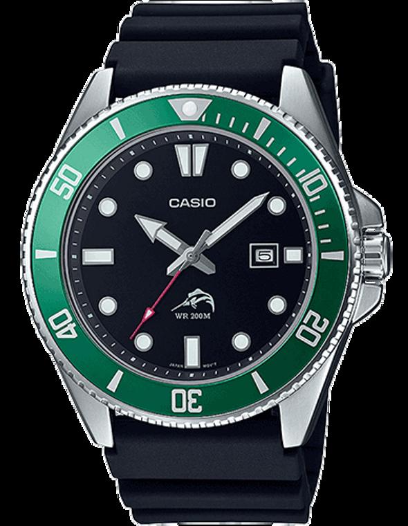 Casio Diver Inspired Watch - Black/Green