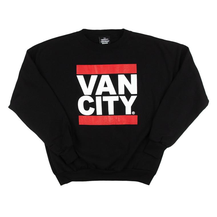 Vancity Original® New Classic Fit UnDMC Crewneck Sweatshirt in Black/Red - Front
