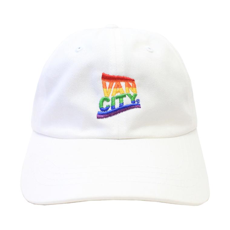 Vancity Pride Dad Hat - White