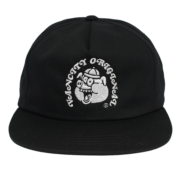 Year Of The Pig 5 Panel Snapback - Black