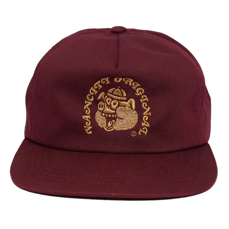 Year Of The Pig 5 Panel Snapback - Burgundy